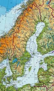 Карта Швеции